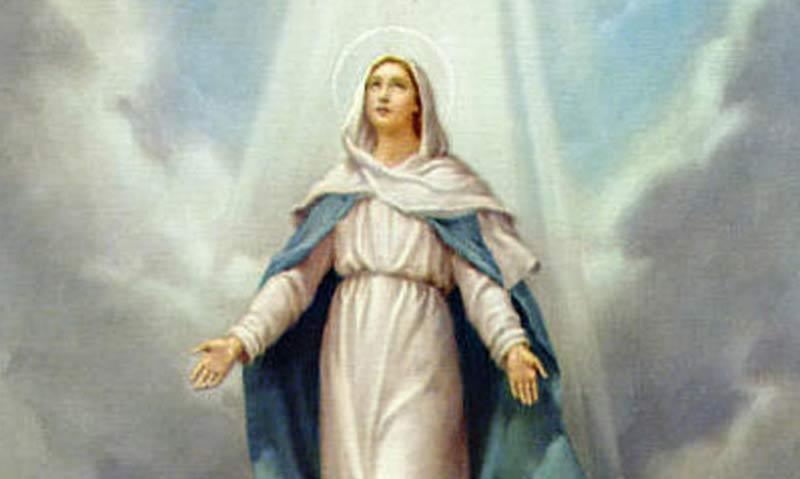 Tajemnica czwarta - WNIEBOWZIĘCIE NAJŚWIĘTSZEJ MARYI PANNY