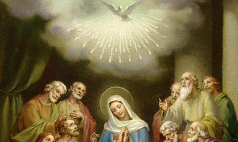 Tajemnica trzecia - ZESŁANIE DUCHA ŚWIĘTEGO NA APOSTOŁÓW